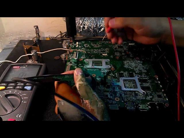 Ремонт материнской платы Toshiba Satellite L755 (Toshiba Satellite L755 motherboard Repair)