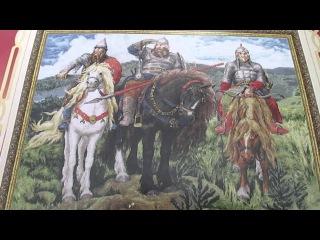 Вышивка крестиком три богатыря 81