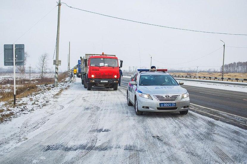 МВД пытается не пустить дальнобойщиков в Москву