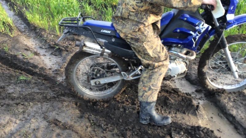 Lifan 200 в грязи ст.Анапская