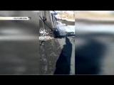 Военные возводят переправу на месте обрушения моста на трассе Владивосток-Находка