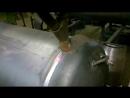 Автоматическая сварка под флюсом SAW кольцевого шва обечайки