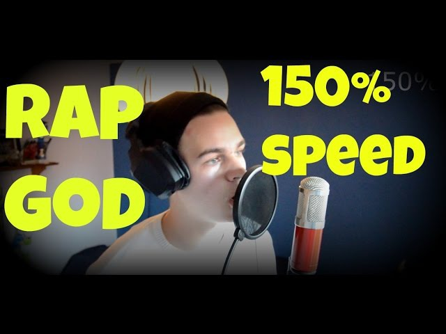 Rap God Fast Rap - Trying 150% Speed cover