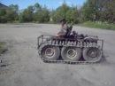 самодельный гусеничный трактор для уборки снега. пробный выезд
