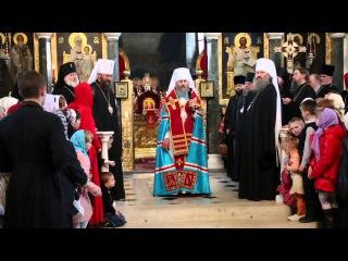 Поздравление с Пасхой Предстоятеля УПЦ в Трапезном храме
