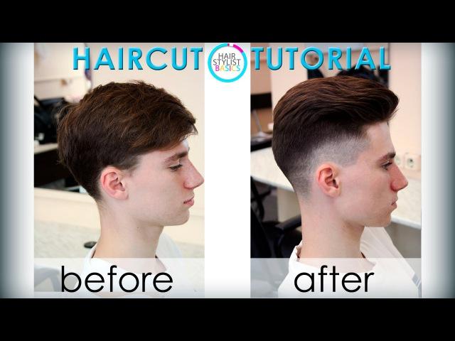 Men's haircut in the British style (мужская стрижка Британка) tutorial 25