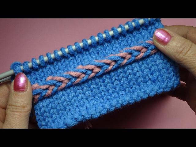 Как вязать обручок Уроки вязания спицами 73 Knitting stitches
