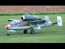 HEINKEL HE-162 GIANT SCALE RC TURBINE MODEL JET DEMO FLIGHT / Mega RC Airshow Göttingen 2015