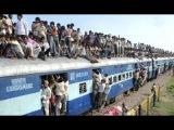 Поезд в Бангладеше. Люди на Крыше. ЖЕСТЬ!!!