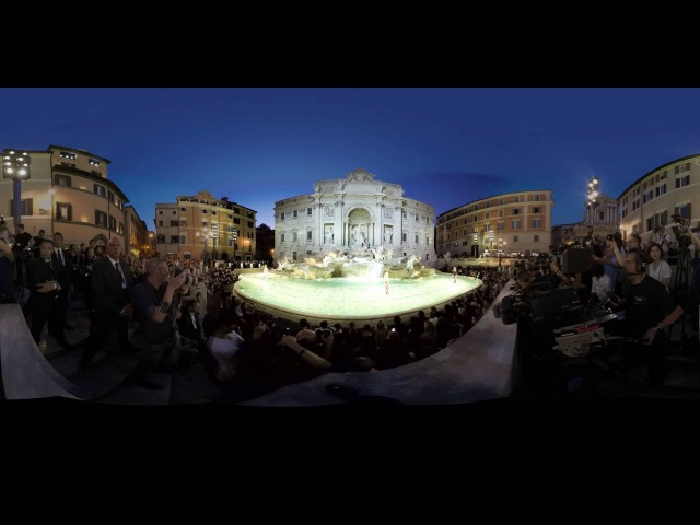 Fendi Legends and Fairy Tales LIVE Fashion Show at the Trevi Fountain