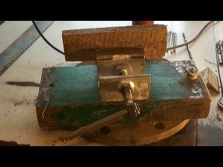 Сверлильный (самодельный ) станок с тисками.Drilling ( homemade) with machine vise . - YouTube