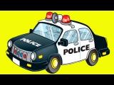 Eğitici Çizgi Film - Polis arabası, Yarış arabası ve Monster Truck - Akıllı Arabalar- Türkçe İzle