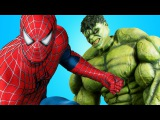 Spiderman & Batman vs Hulk & Deadpool w/ Battle death match! Superheroes in Real Life