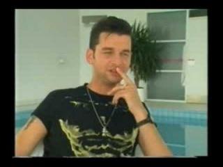 Dave Gahan at the pool in puk studio denmark 90 part 2