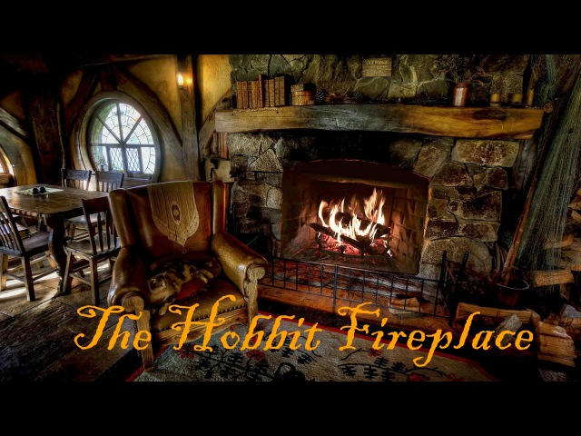 Hobbiton Movie Set Fireplace Ambience featuring Pickles the Cat!