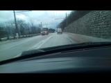 Авария между Гурзуфом и айданилем 6 января 2016 г Утро