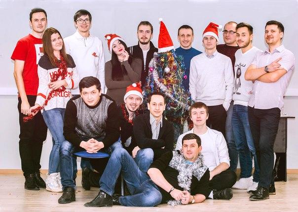 Наряжаем офис R-top  Общая фотография.  Фотограф: Сергей Коротков