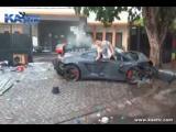 ужасная авария на lamborghini