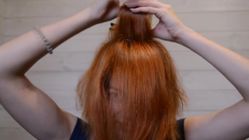 Укладка волос феном на себе. Юлия Гузнова