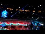Предматчевое шоу финальной серии хоккейных игр кубка Гагарина зоны Запад СКА-ЦСКА.