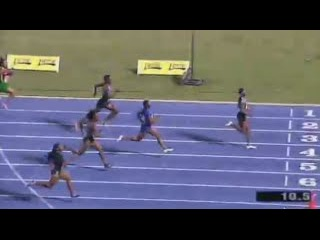 Elaine Thompson Defeats Fraser Pryce Women's 100m Semi Final 1 Jamaica Olympic Trials 2016