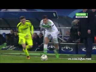 Гент - Вольфсбург 2:3. Обзор матча. Лига Чемпионов 2015/16. 1/8 финала.