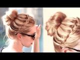Waterfall bun hairstyle for everyday ✿ Medium long hair tutorial