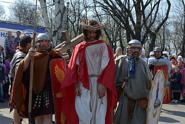 -jjj5jBb-jw В одесском парке сегодня  воссоздадут казнь Христа