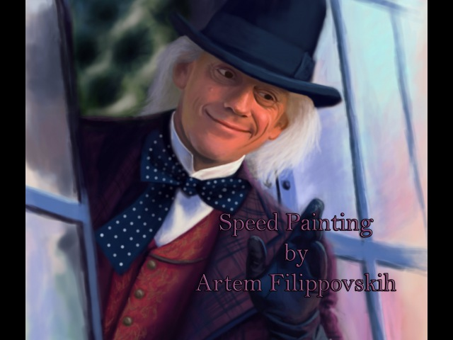 Emmett Brown - Speed Painting by Artem Filippovskih