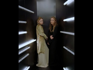Ashley and Mary-Kate Olsen in the #ManusxMachina Experience. Directed by @gvsgvs. #MetGala