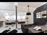 Cool Small Attic Loft Apartment With Minimalist Design