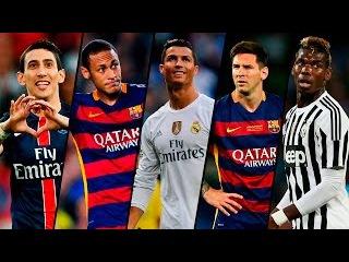 Top 5 Most Skillful Players 2015/16 ● Messi ● Ronaldo ● Neymar ● Pogba ● Di Maria