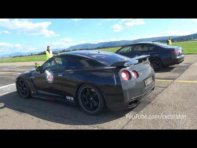 950HP Nissan GT R R35 Spec V vs 890HP Audi RS6 4F vs 1200HP Porsche 9ff GTronic