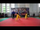 Bedrii Nazar VS Holik Oleksandt (red gloves) quaterfinal of Ukraininian free-fight Champ