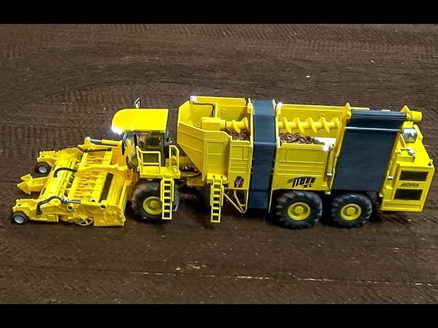 RC Ropa Euro Tiger sugar beets crop machine in Action!
