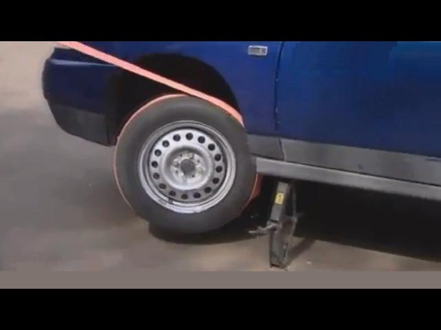 Как завести машину буксировочным тросом, без буксировки