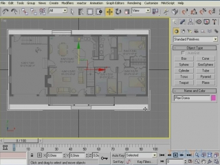 Моделируем дом в 3D Studio MAX® 2009 - Рисуем контур стен
