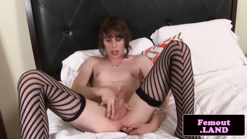 Amateur femboy jerks and shows off trans ass 10