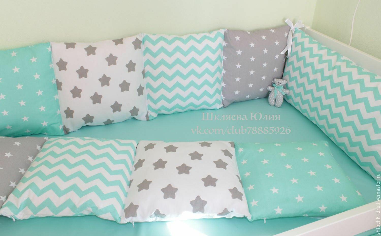 Бортики подушки в кроватку для новорожденных сшить 157
