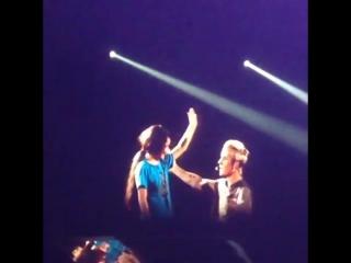 March 15: Fan taken video of Justin onstage in Sacramento, CA (1)