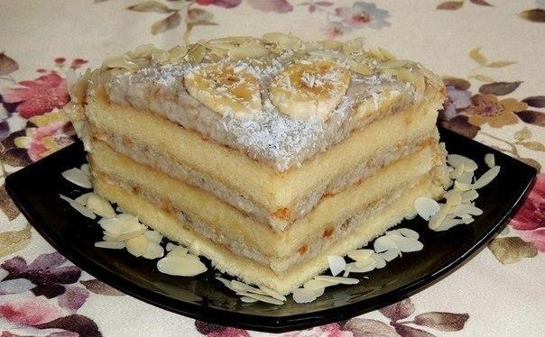 Торт банановый рецепт с фото пошагово в домашних условиях 52