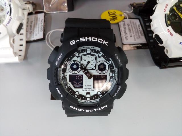 CASIO G-SHOCK GA-100BW-1A. Cs-time.ru