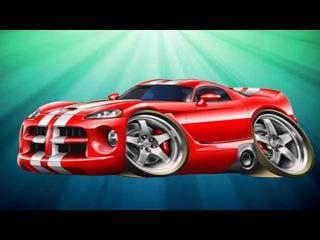 Carros Para Niños. Un camion monstruo, Coche de carreras. Caricaturas de carros. Tiki Taki Carros