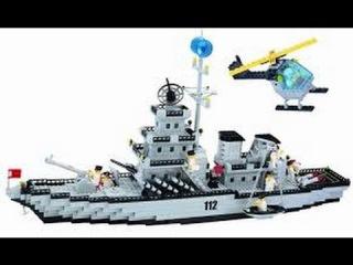обзор лего брик военный корабль  артикул 112