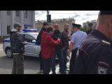 Нападение на людей, пришедших на пикет Солидарности против войны.18+.Внимание.Ненормативная лексика !!! Видео Ирины Яценко.13.08