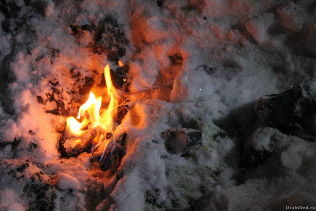 Выход горящих газов