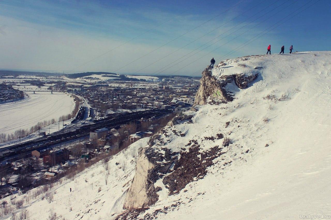 Вид с горы на Чусовой