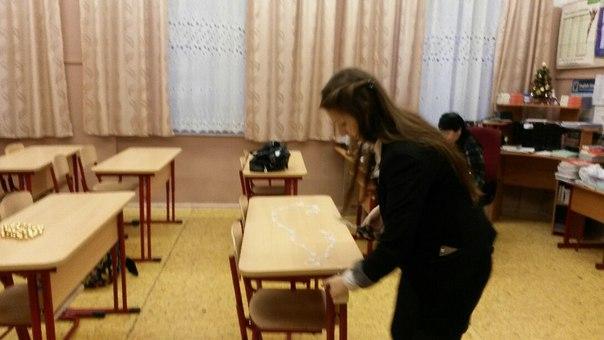 Фото украшенного класса к новому году