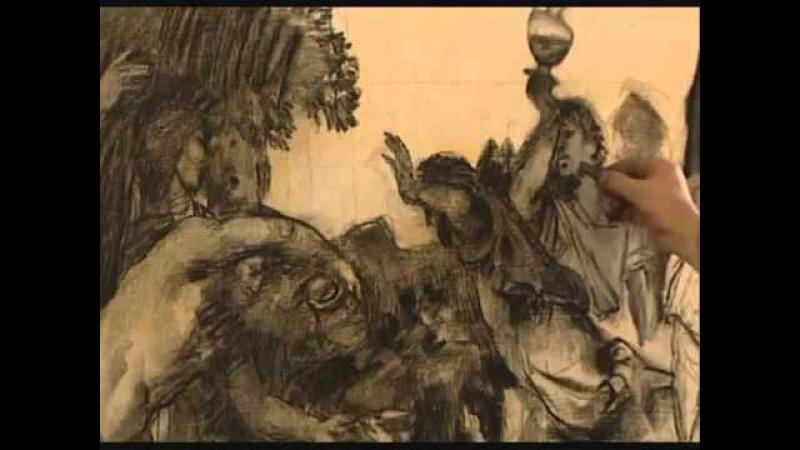 Técnica de Tiziano Copia de la Bacanal de los andrios completo