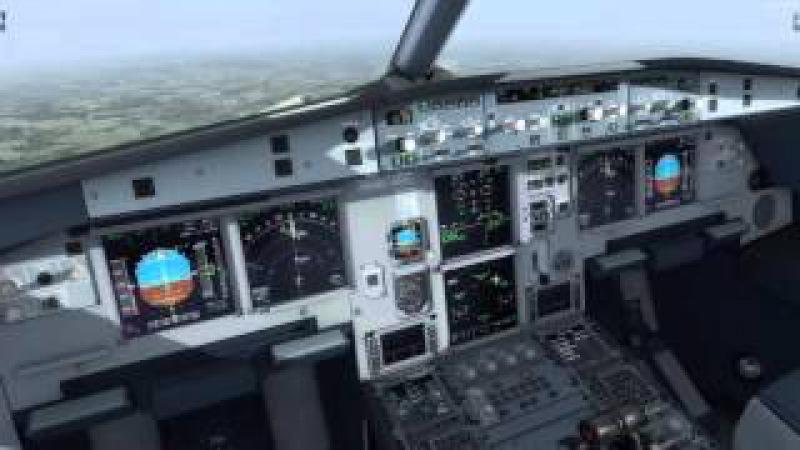 P3D v3 2 IVAO Aerosoft Austrian A320 manual aproach at LOWW
